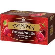 TWININGS Four Red Fruits Tea Tè neri aromatizzati