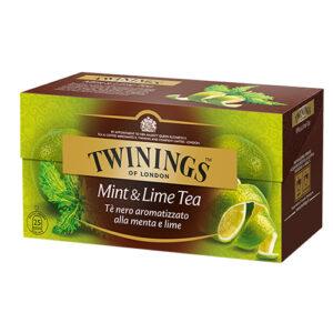 TWININGS Mint & Lime Tè neri aromatizzati