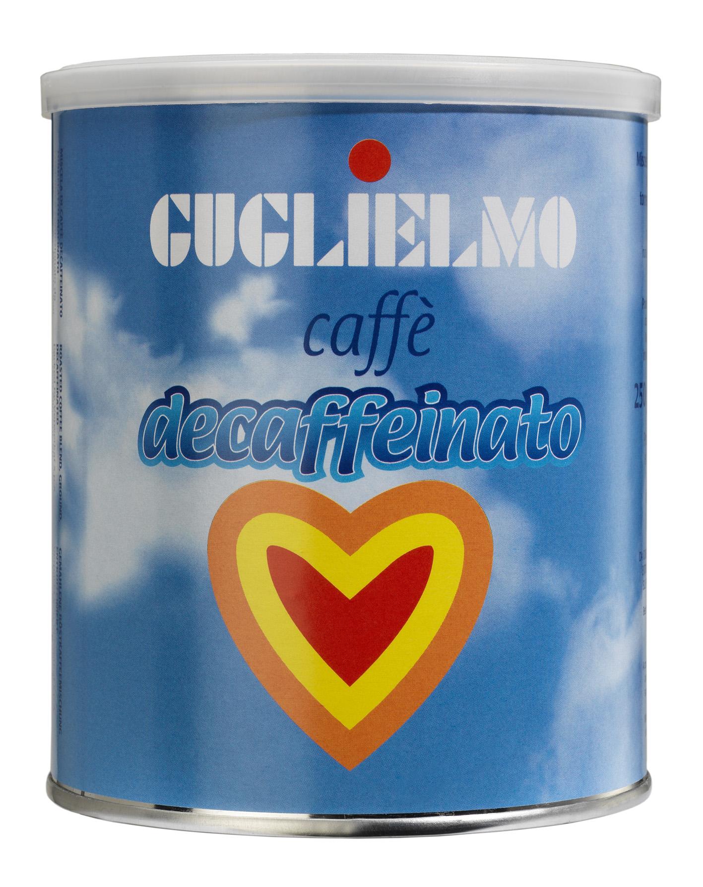 caffé decaffeinato macinato guglielmo 100% arabica