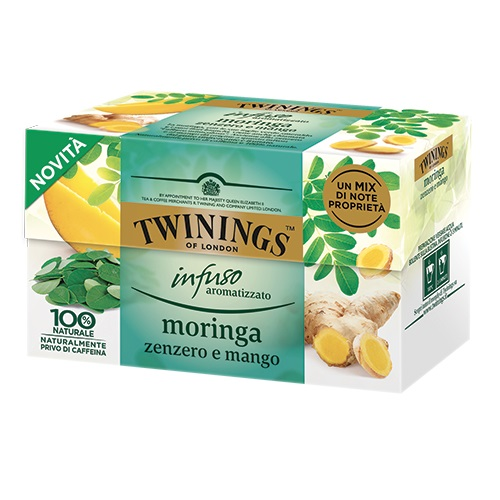 Tè Twinings GLI INFUSI Moringa Zenzero e Mango