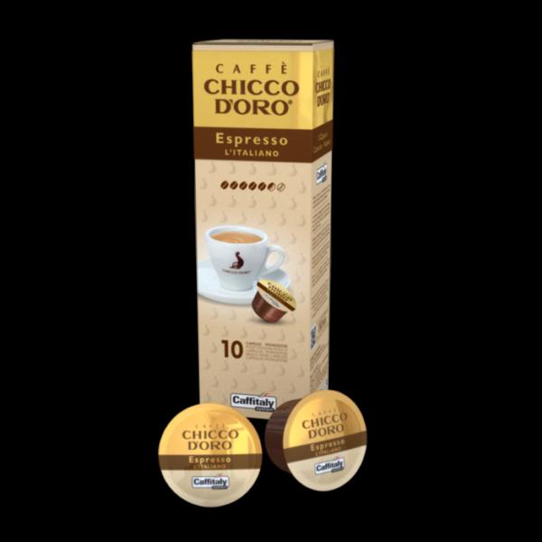 caffè chicco d'oro espresso italiano capsule caffitaly