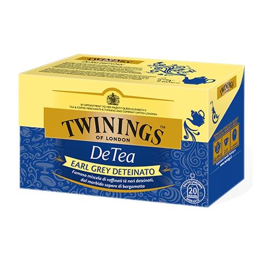 Tè Twinings Detea Earl Grey Deteinato