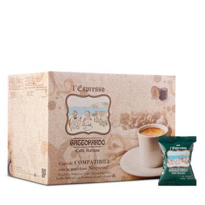 Capsule TO.DA caffè Gattopardo DEK compatibili Nespresso *