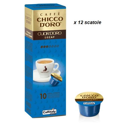 Caffè Chicco D'Oro Capsule Cuor d'Oro Decaf 12 scatole
