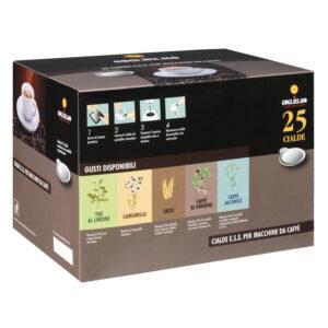 Caffé GUGLIELMO Cialde aromatizzate al Ginseng/Orzo 50 pezzi