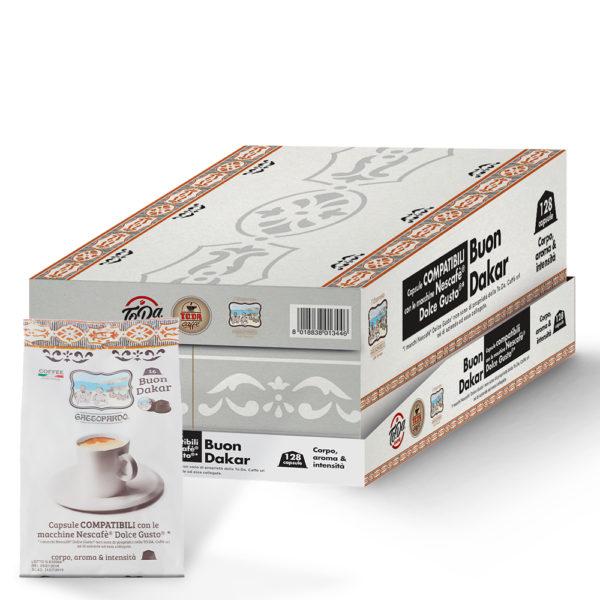 Capsule TO.DA caffè Gattopardo DAKAR compatibili Dolce Gusto