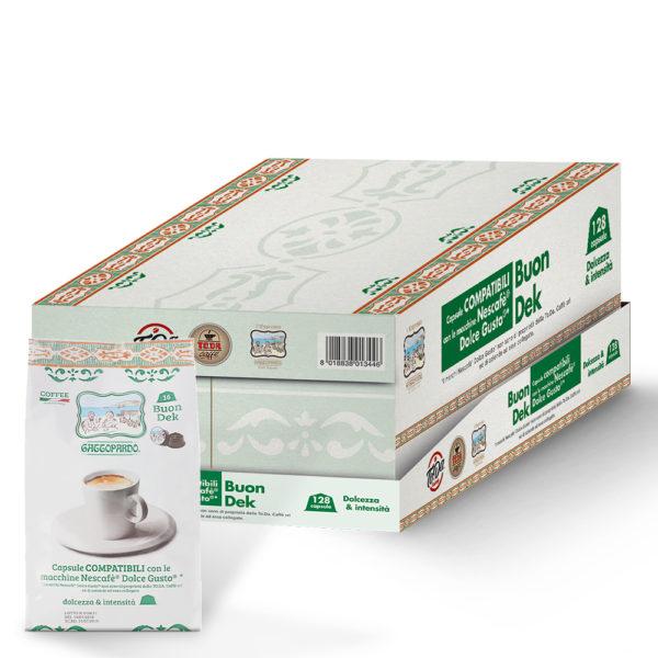 Capsule TO.DA caffè Gattopardo BUON DEK compatibili Dolce Gusto